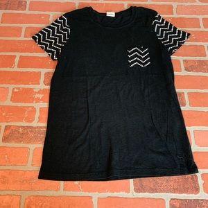 VS Pink Black Victoria's Secret T-Shirt Tee Shirt
